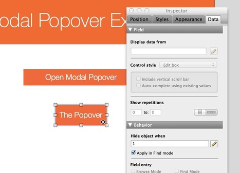 How to build a modal dialog in FileMaker using popovers | FileMaker News | Scoop.it