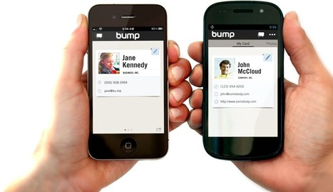 Bump : share contact information and photos by simply bumping two phones together | Time to Learn | Scoop.it