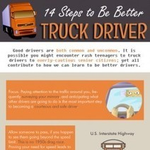 14 Steps to Be Better Truck Driver | Visual.ly | Truck Driver Infographics | Scoop.it