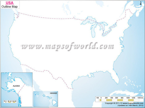 Printable Blank US Map | US Map Outline | Maps & Info | Scoop.it