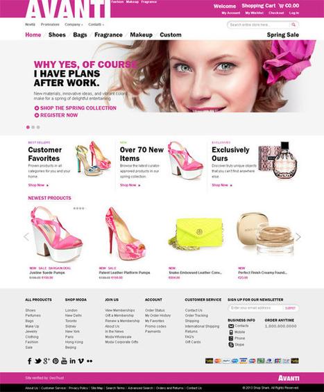 Avanti, Magento Pink Fashion Shoes Perfumes Store Theme | Premium Download | Premium Magento Themes | Scoop.it