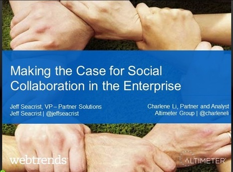 Unlocking the Business Value of the Social Enterprise – Webtrends ... | Social Business Evolution | Scoop.it