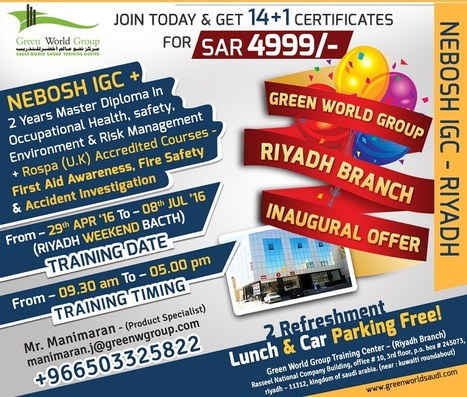 Nebosh course in Saudi Arabia | Nebosh courses | Scoop.it