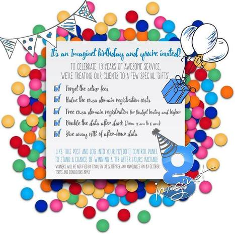 Imaginet Birthday Specials! win 1TB packages...and more - ImaginetSEO | Social media and small business | Scoop.it