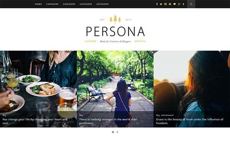 Persona - Clean & Responsive Blogger Template | Blogger Templates | Scoop.it