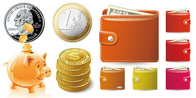 Free Vector Money & Coins | Free Resource for Designers | Paola Diseno | Scoop.it