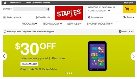 The Amazon Effect: Staples To Close 225 Stores, Says It's Now Making Half Of All Sales Online | TechCrunch | AdJourney - Marketing & Advertising Journey | Scoop.it