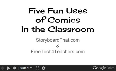 Free Technology for Teachers: Three Free Webinar Recordings About Using Comics in the Classroom | Scriveners' Trappings | Scoop.it
