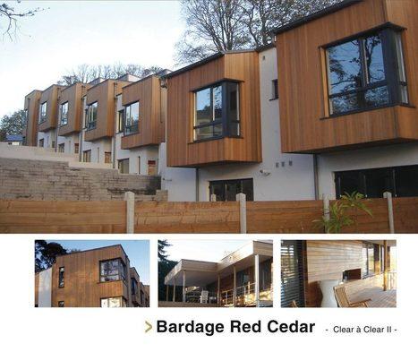 Bardage bois naturel : RED CEDAR | Ageka les matériaux pour la construction bois. | Scoop.it