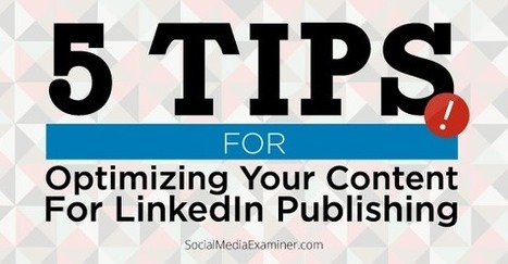 How to Maximize Your LinkedIn Publishing Exposure | | The Solutions To Search Engine Optimization | Scoop.it