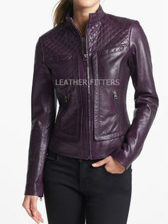 Quilted Style Women Leather Moto Jacket for Autumn | Leather Apparels World-Wide | Scoop.it