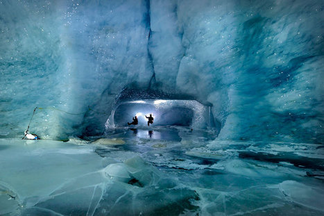 British photographer Robbie Shone explores beautiful ice caves in a Swiss glacier - Telegraph | Glaciers: Art and Science | Scoop.it