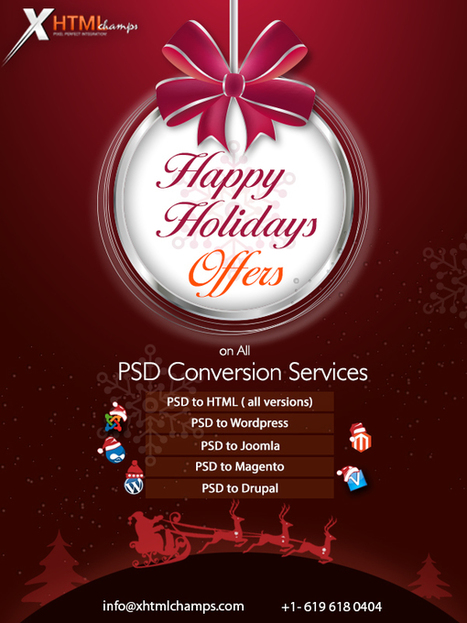 Xhtmlchamps Unleashes Happy Holidays Discounts On All PSD Conversion Services | xhtmlchamps blog | mydesk | Scoop.it