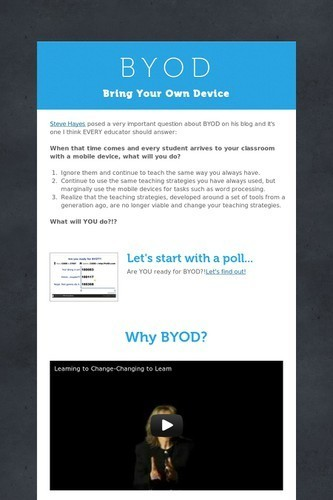B Y O D | Getting Started with BYOD: Integration Resources for Teachers | Scoop.it
