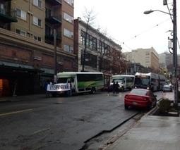 Protestors block several Microsoft employee shuttles in Seattle   chromecast   Scoop.it