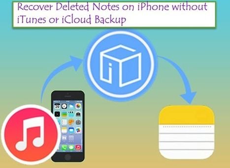 How to Recover Deleted Notes on iPhone without iTunes or iCloud Backup | iOS device recovery | Scoop.it