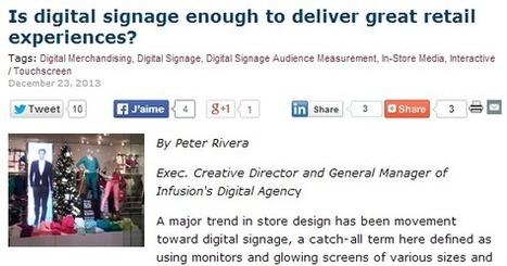 Le digital signage devient de plus en plus un élément crucial pour les enseignes | La Minute Retail | Commerce Connecté | Scoop.it