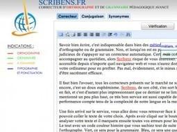 Scribens. Correcteur d'orthographe et de grammaire en ligne | Education & Numérique | Scoop.it