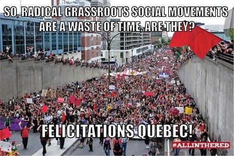 Alors, les mouvements sociaux sont une perte de temps? | Musée de la grève étudiante au Québec 2012 - Museo de la huelga estudiantil en Québec 2012 | Scoop.it