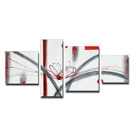 Hand-painted Abstract Oil Painting - Set of 4 - Free Shipping - Oilpainting-shop.com | OilPainting-Shop.com | Scoop.it