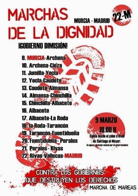 La columna murciana de las Marchas de la Dignidad descansa en Molina y parte hacia Archena #22M | Bruno Jordán | Scoop.it