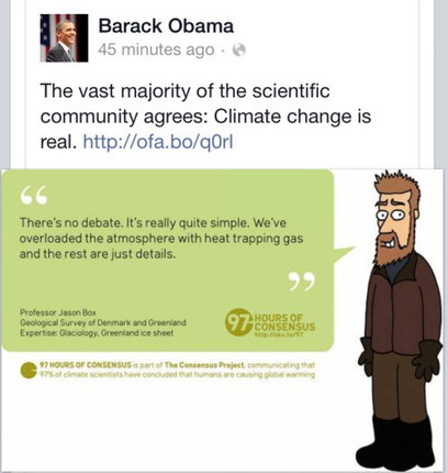 Obama Tweets the 97 Percent - and Jason Box | Sustain Our Earth | Scoop.it