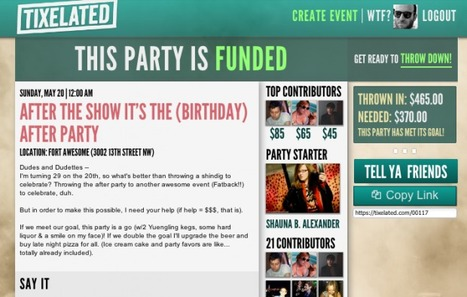 Tixelated Launches Crowdfunding Platform for Event Planners | Investing in start-up | Scoop.it