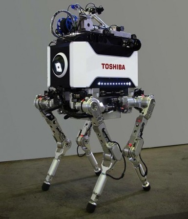 Toshiba unveils four-legged nuclear plant inspection robot | leapmind | Scoop.it