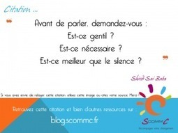 S Comm C, le blog, Avant de parler… | Citations | Scoop.it