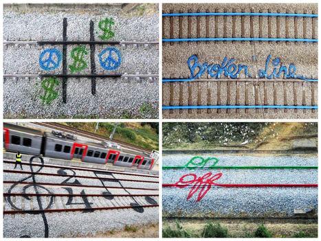 When a Street Artist Is Having Fun with Railroad Tracks | 1001 Creative ideas ! | Scoop.it