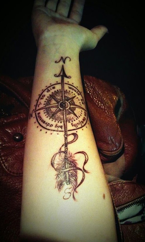 35 Amazing Compass Tattoo Designs – Tattoos Era | Your Daily Experience | Scoop.it