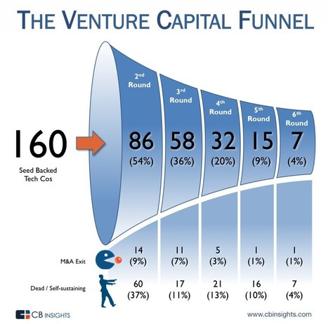 The Venture Capital Funnel  75% are orphaned or die  21% get acquired - (4%) are  unicorns. | Fashion Technology Designers & Startups | Scoop.it