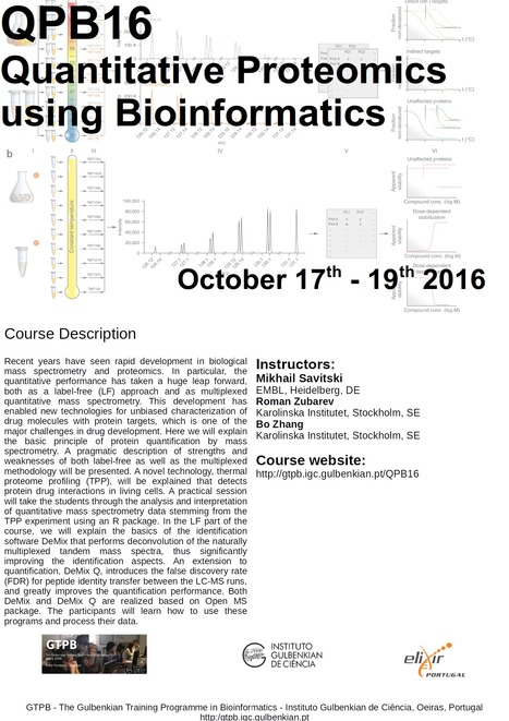 GTPB: QPB16 Quantitative Proteomics using Bioinformatics - Home | Bioinformatics Training | Scoop.it