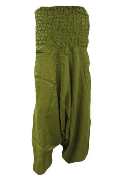 Harem Pant Olive Green Yoga Baggy Rayon Capri | Bohemian Fashion | Scoop.it