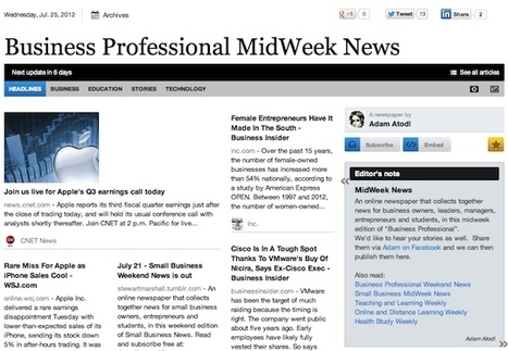 July 25 - Business Professional MidWeek News | Business Futures | Scoop.it