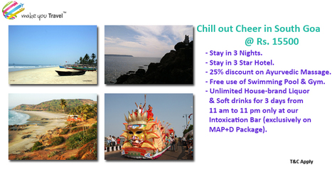 Chill out Cheer in South Goa @ Rs. 15500   Domestic Packages   Scoop.it