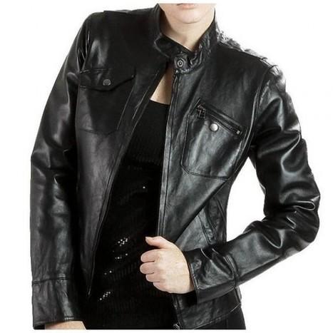 Women Elegant Black Leather Jacket Biker Fashion Coat Ms | Adidas TT10 Black Hockey Stick | Scoop.it