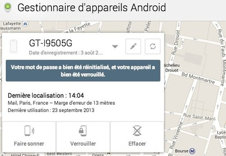 Verrouillez votre mobile à distance avec Android Device Manager | Security & Smartphone | Scoop.it