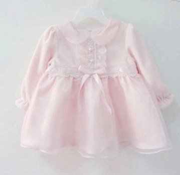 Light Pink Infant Dress with Ribbons and Laces | Online Baby Accessories | Scoop.it