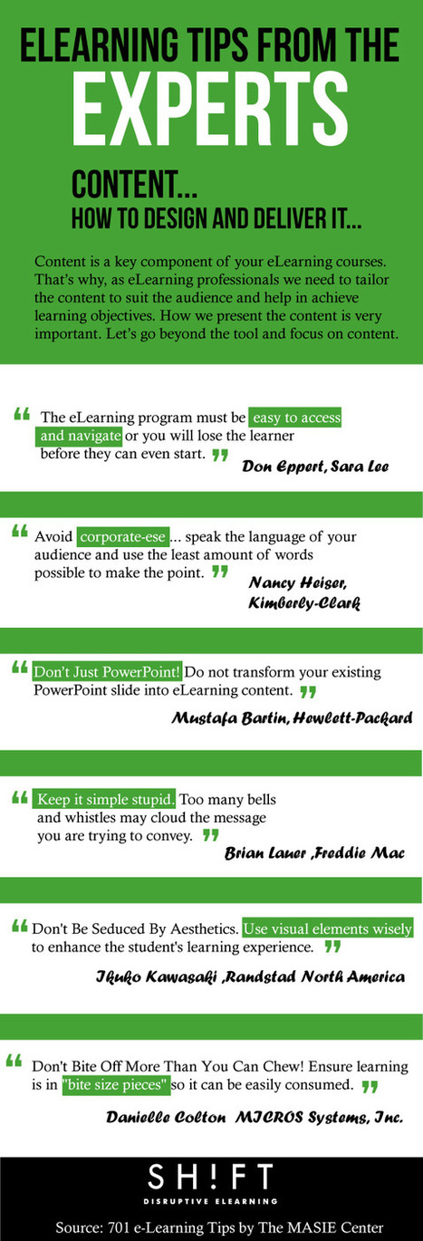 Top eLearning Tips Straight From the Experts [INFOGRAPHIC] | :: The 4th Era :: | Scoop.it