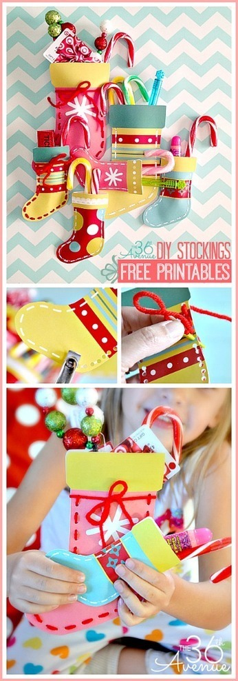 Free Christmas Printables and DIY Stockings | The 36th AVENUE | Kids Craft | Scoop.it