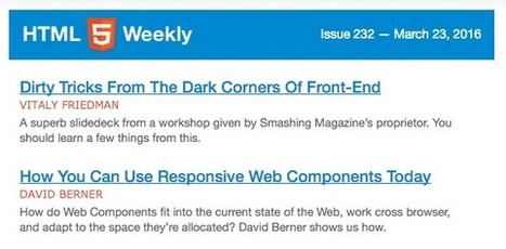 The Best Programming Newsletters for Every Kind of Developer | Education and Tech Tools | Scoop.it