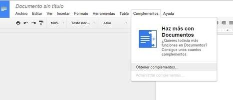 Crea y aprende con Laura: Google docs añade complementos | Google tresnak | Scoop.it