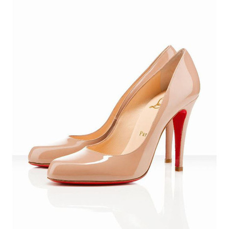 Christian Louboutin Decollete 868 100mm Patent Leather Pumps Pink | my love list | Scoop.it