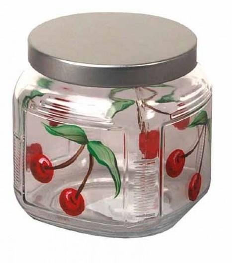 CherryPaintedGlassJar – HolidayIdeasforGifts .   HandMade 4All   handmade4all.com   Scoop.it