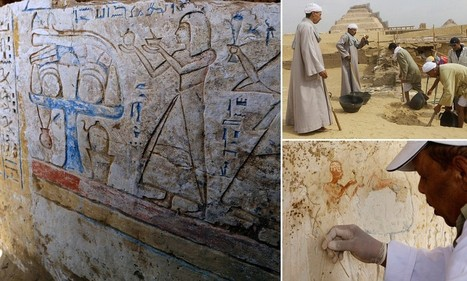 Colourful tomb of a guard reveals images of ancient Egyptian afterlife | Egyptology | Scoop.it