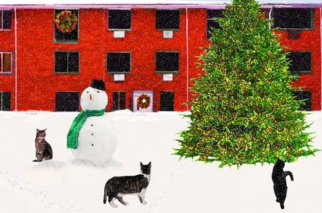 Cat Christmas Card - Cats in Snow | Christmas Cat Ornaments and Cards | Scoop.it
