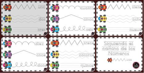 Impresionantes fichas Grafomotricidad números 1 - 15 - Imagenes Educativas | paprofes | Scoop.it
