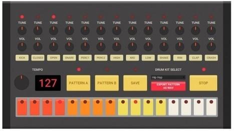 Un generador online de ritmos en percusión | Creatividiario: recursos, inspiración y motivación para creadores en la web | Scoop.it