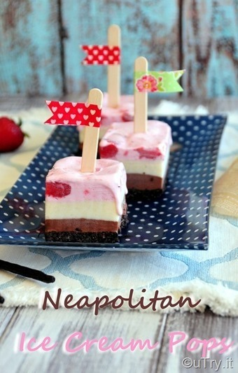 Neapolitan Ice Cream Pops 自家製三色雪糕磚 | Passion for Cooking | Scoop.it